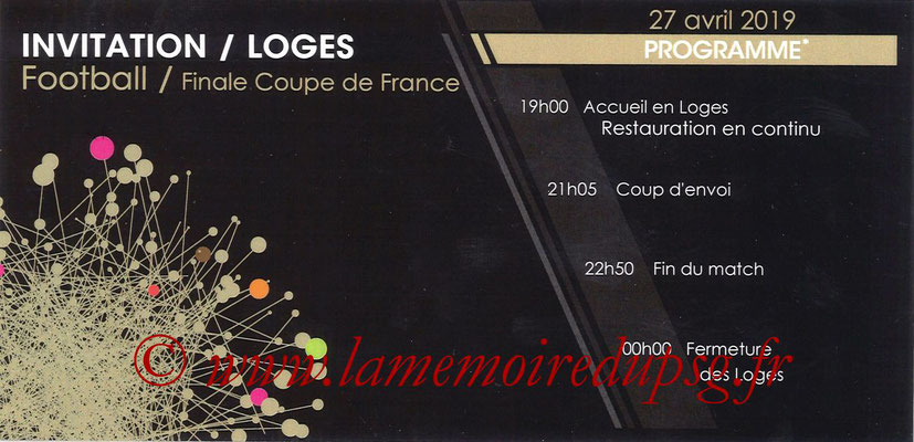 Invitation Loges  Rennes-PSG  2018-19