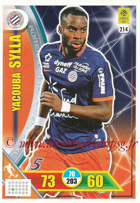 2017-18 - Panini Adrenalyn XL Ligue 1 - N° 214 - Yacouba SYLLA (Montpellier)