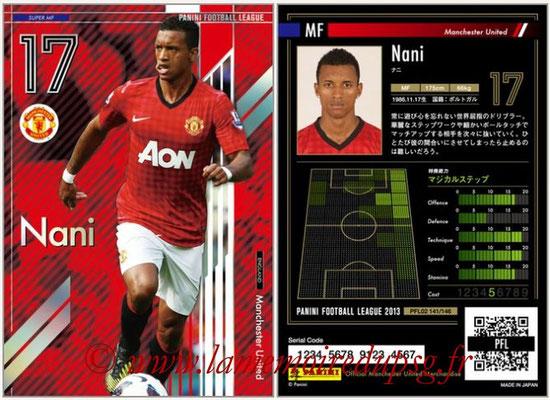 Panini Football League 2013 - PFL02 - N° 141 - Nani ( Manchester United  ) (Super MF)