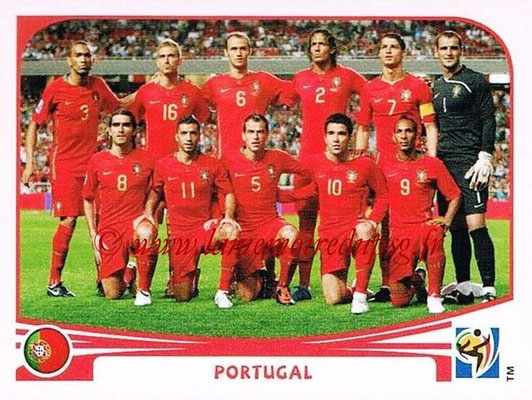 2010 - Panini FIFA World Cup South Africa Stickers - N° 543 - Équipe Portugal