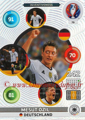Panini Euro 2016 Cards - N° 079 - Mesut ÖZIL (Allemagne) (Inventiveness)