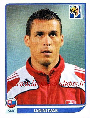 2010 - Panini FIFA World Cup South Africa Stickers - N° 481 - Jan NOVAK (Slovaquie)