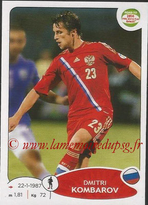 2014 - Panini Road to FIFA World Cup Brazil Stickers - N° 332 - Dimitri KOMBAROV (Russie)