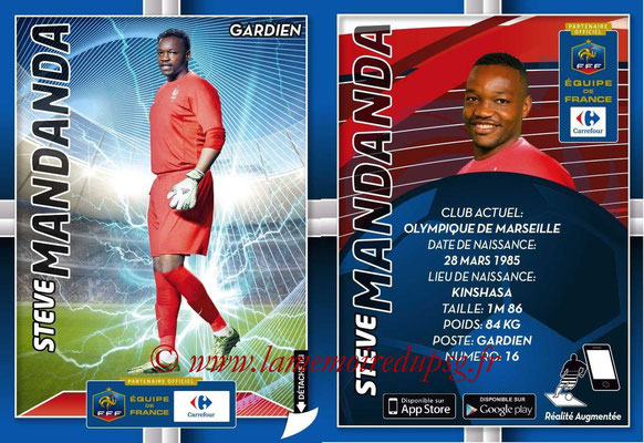 WC 2014 Collection Carrefour 3D Bleus - N° 02 - Steve MANDANDA (Olympique de Marseille)