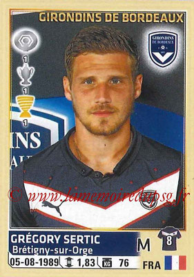 2014-15 - Panini Ligue 1 Stickers - N° 042 - Grégory SERTIC (Girondins de Bordeaux)