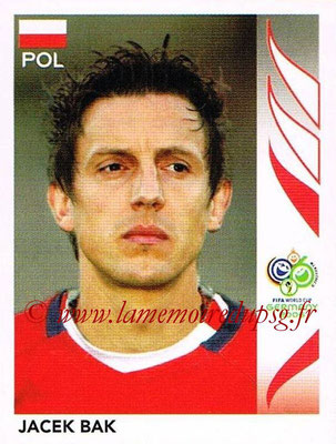2006 - Panini FIFA World Cup Germany Stickers - N° 058 - Jacek BAK (Pologne)