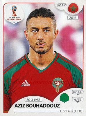 2018 - Panini FIFA World Cup Russia Stickers - N° 170 - Aziz BOUHADDOUZ (Maroc)