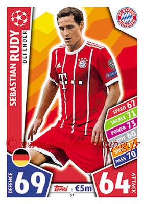 2017-18 - Topps UEFA Champions League Match Attax - N° 057 - Sebastien RUDY (FC Bayern Munich)