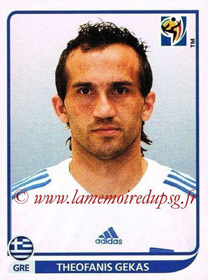 2010 - Panini FIFA World Cup South Africa Stickers - N° 179 - Theofanis GEKAS (Grèce)