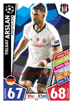 2017-18 - Topps UEFA Champions League Match Attax - N° 334 - Tolgay ARSLAN (Besiktas JK)