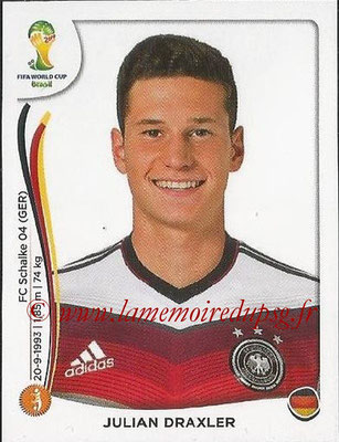 2014 - Panini FIFA World Cup Brazil Stickers - N° 501 - Julian DRAXLER (Allemagne)