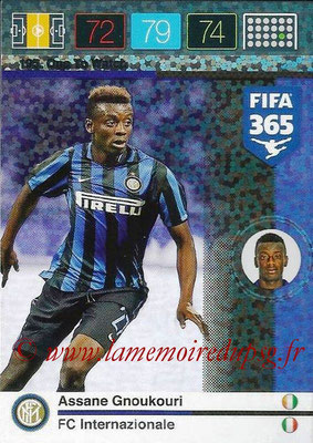 2015-16 - Panini Adrenalyn XL FIFA 365 - N° 195 - Assane GNOUKOURI (FC Internazionale) (One to Watch)