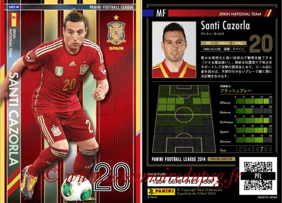 Panini Football League 2014 - PFL08 - N° 162 - Santi CAZORLA (Espagne) (Super MF)