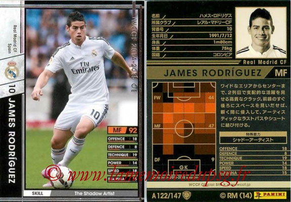 2014-15 - WCCF - N° A122 - James RODRIGUEZ (Real Madrid CF)