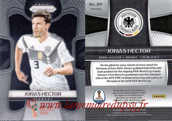 2018 - Panini Prizm FIFA World Cup Russia - N° 089 - Jonas HECTOR (Allemagne)