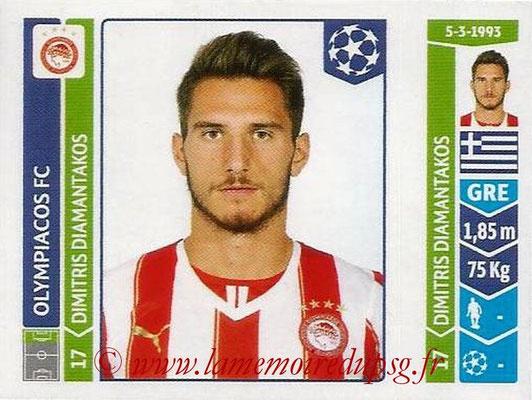 2014-15 - Panini Champions League N° 090 - Dimitris DIAMANTAKOS (Olympiacos FC)