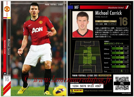 Panini Football League 2013 - PFL03 - N° 060 - Michael Carrick (Manchester United)