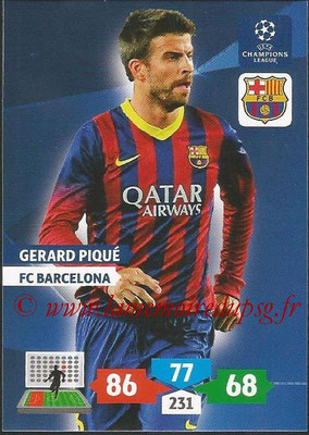2013-14 - Adrenalyn XL champions League N° 066 - Gerard PIQUE (FC Barcelone)