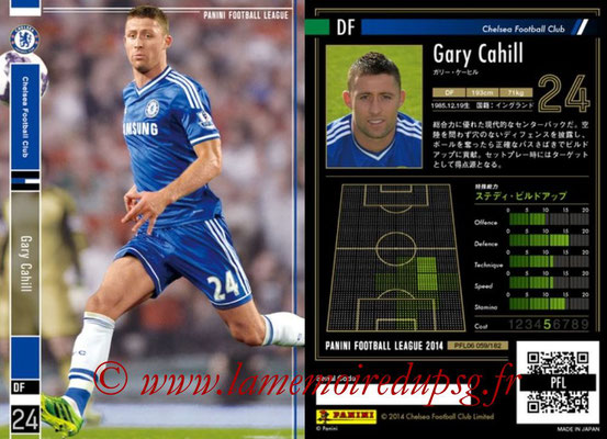 Panini Football League 2014 - PFL06 - N° 059 - Gary CAHILL (Chelsea FC)