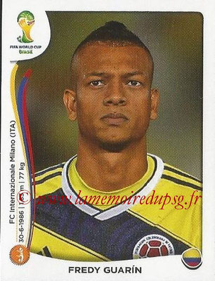 2014 - Panini FIFA World Cup Brazil Stickers - N° 195 - Fredy GUARIN (Colombie)