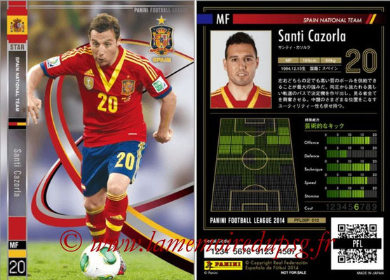Panini Football League 2014 - PFL08P - N° 010 - Santi CAZORLA (Espagne) (Star)