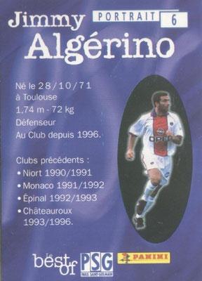 N° 006 - Jimmy ALGERINO (Verso)