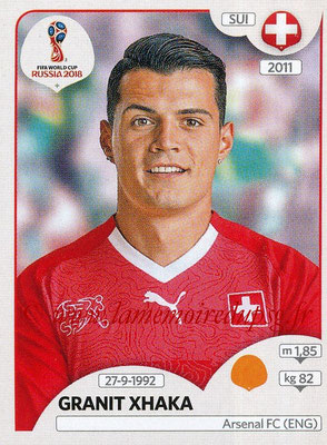 2018 - Panini FIFA World Cup Russia Stickers - N° 381 - Granit XHAKA (Suisse)