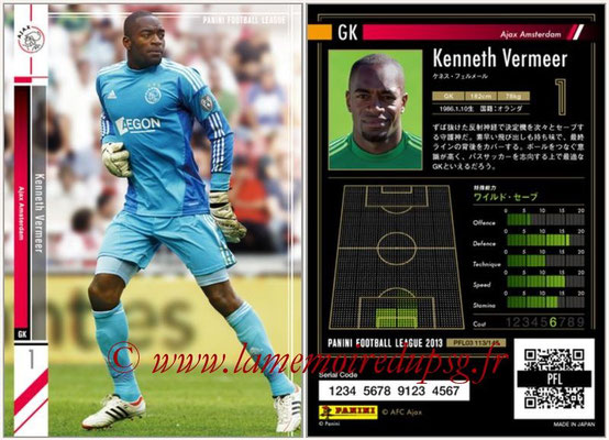 Panini Football League 2013 - PFL03 - N° 113 - Kenneth Vermeer (Ajax Amsterdam)