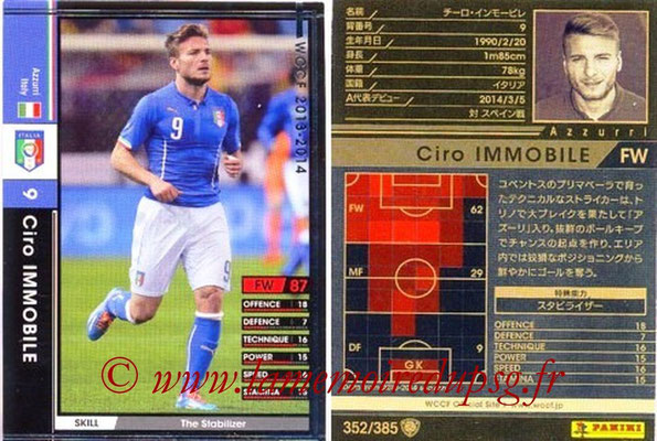 2013-14 - WCCF - N° 352 - Ciro IMMOBILE (Italie)