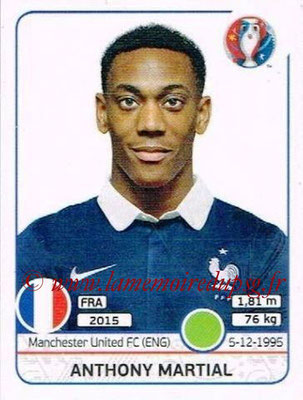 Panini Euro 2016 Stickers - N° 036 - Anthony MARTIAL (France)
