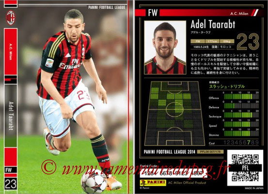 Panini Football League 2014 - PFL08 - N° 007 - Adel TAARABT (Milan AC)