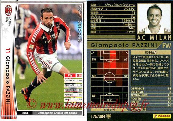 2012-13 - WCCF - N° 175 - Giampaolo PAZZINI (Milan AC)