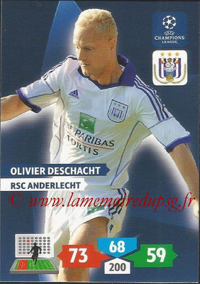 2013-14 - Adrenalyn XL champions League N° 038 - Ilivier DESCHACHT (RSC Anderlecht)