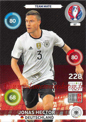 Panini Euro 2016 Cards - N° 067 - Jonas HECTOR (Allemagne)