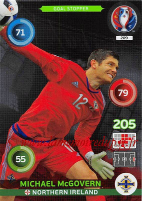 Panini Euro 2016 Cards - N° 209 - Michael McGOVERN (Irlande du Nord) (Goal Stopper)