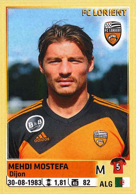 2014-15 - Panini Ligue 1 Stickers - N° 184 - Mehdi MOSTEFA (FC Lorient)