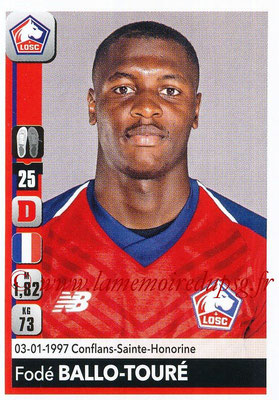 2018-19 - Panini Ligue 1 Stickers - N° 153 - Fodé BALLO-TOURE (Lille)
