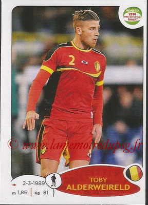 2014 - Panini Road to FIFA World Cup Brazil Stickers - N° 260 - Toby ALDERWEIRELD (Belgique)
