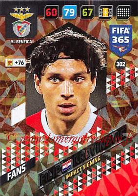 2017-18 - Panini FIFA 365 Cards - N° 302 - Filip KROVINOVIC (SL Benfica) (Impact Signing)