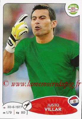 2014 - Panini Road to FIFA World Cup Brazil Stickers - N° 201 - Justo VILLAR (Paraguay)