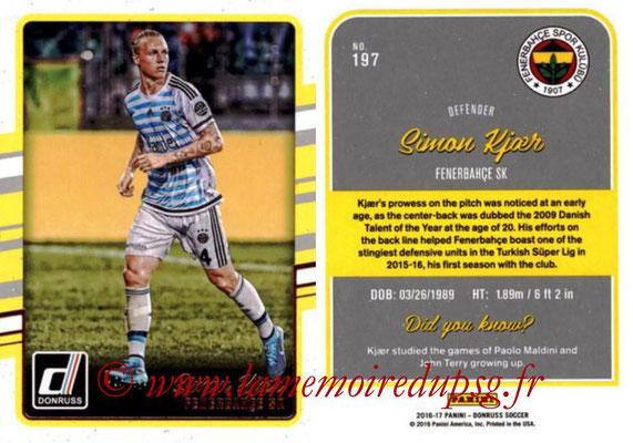 2016 - Panini Donruss Cards - N° 197 - Simon KJAER (Fenerbahce SK)