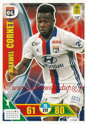 2017-18 - Panini Adrenalyn XL Ligue 1 - N° 137 - Maxwel CORNET (Lyon)