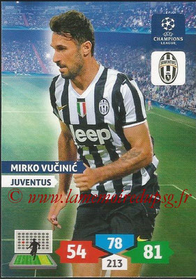 2013-14 - Adrenalyn XL champions League N° 153 - Mirko VUCINIC (Juventus FC)