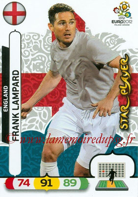 Panini Euro 2012 Cards Adrenalyn XL - N° 052 - Frank LAMPARD (Angleterre) (Star Player)