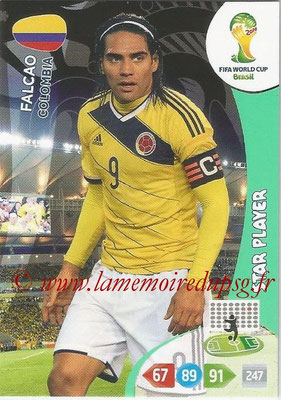 2014 - Panini FIFA World Cup Brazil Adrenalyn XL - N° 086 - FALCAO (Colombie) (Star Player)
