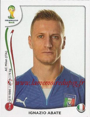 2014 - Panini FIFA World Cup Brazil Stickers - N° 323 - Ignazio ABATE (Italie)