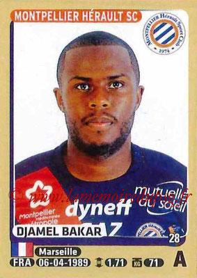 2015-16 - Panini Ligue 1 Stickers - N° 282 - Djamel BAKAR (Montpellier Hérault SC)