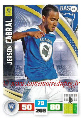 2016-17 - Panini Adrenalyn XL Ligue 1 - N° 028 - Jerson CABRAL (Bastia)