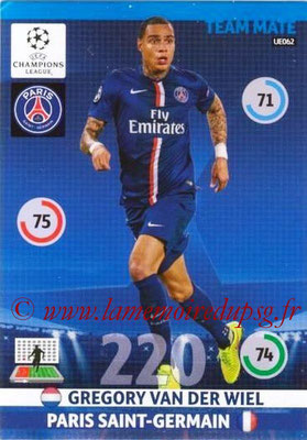 2014-15 - Adrenalyn XL champions League Update edition N° UE062 - Grégory VAN DER WIEL (Paris Saint-Germain)