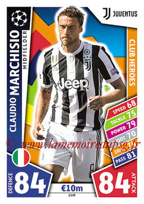 2017-18 - Topps UEFA Champions League Match Attax - N° CH09 - Claudio MARCHISIO (Juventus) (Club Heroes)